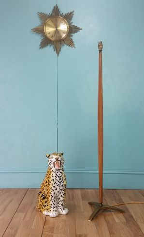 Mid century teak floor lamp - SOLD